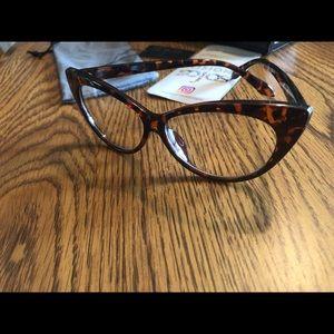 Sojos Eyeglasses Cat Eye Frame Tortoise Brown